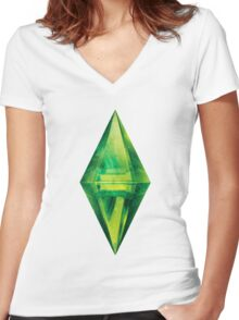 Sims: Space Women's Fitted V-Neck T-Shirt