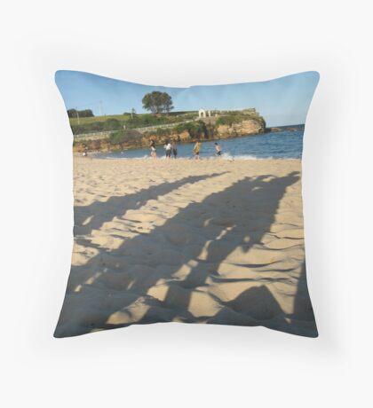 Shadows on Coogee Beach Throw Pillow