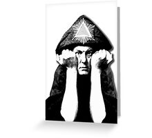 Aleister Crowley Greeting Card