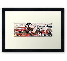 'Red House' by Katsushika Hokusai (Reproduction) Framed Print