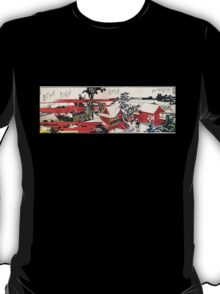 'Red House' by Katsushika Hokusai (Reproduction) T-Shirt