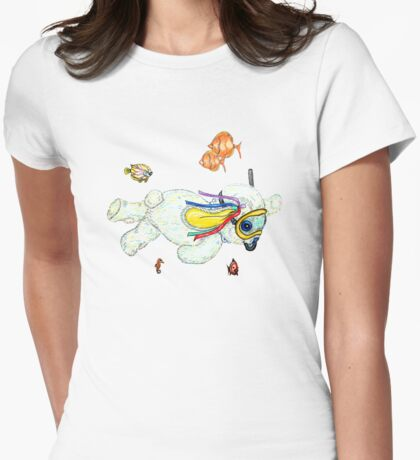 Pooky is a Snorkellin' Womens Fitted T-Shirt
