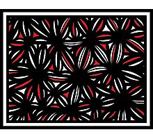 Mashni Abstract Expression Red White Black Photographic Print
