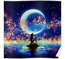Mermaid Lantern Poster