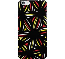 Pebbles Abstract Expression Yellow Red Black iPhone Case/Skin