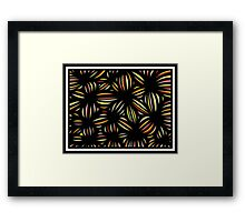 Mahmoud Abstract Expression Yellow Red Black Framed Print