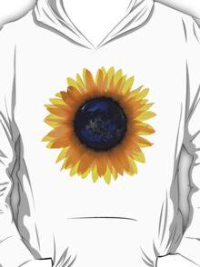 """Sunflower Eclipse"" Earth Sun One T-Shirt"