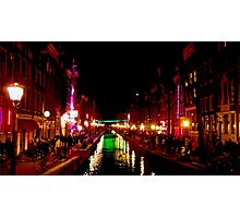 The Red Lights of Amsterdam Photographic Print