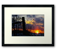 Heated Fence.... For Fence Lovers Everywhere.... Framed Print