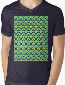 Fabric Texture Retro Style Mens V-Neck T-Shirt