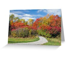 Backroad to Autumn Greeting Card