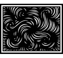 Tuggie Abstract Expression Black and White Photographic Print