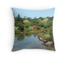 Joyous Japanese Gardens Throw Pillow