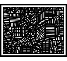 Tappin Abstract Expression Black and White Photographic Print