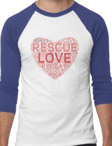 Rescue, Love, Repeat Men's Baseball ¾ T-Shirt