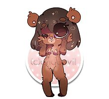 KAWAII chocovii Furry Chibi Mascot Photographic Print