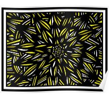 Javery Abstract Expression Yellow Black Poster