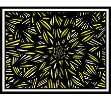 Javery Abstract Expression Yellow Black Photographic Print