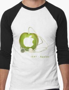iEat - Apples Men's Baseball ¾ T-Shirt