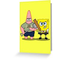 Sponge of the Dead Greeting Card