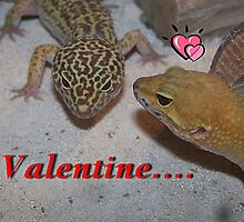 A Leopard Gecko Lizard Valentine Card by Jonice