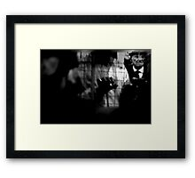 volatile humanity  Framed Print