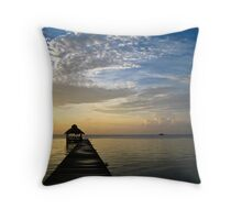 Morning Sea Throw Pillow