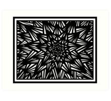 Blakeney Abstract Expression Black and White Art Print
