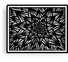 Blakeney Abstract Expression Black and White Canvas Print