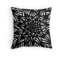 Blakeney Abstract Expression Black and White Throw Pillow