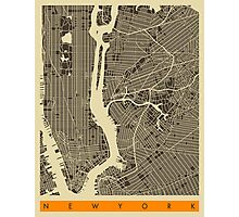 NEW YORK MAP Photographic Print