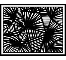 Pillion Abstract Expression Black and White Photographic Print
