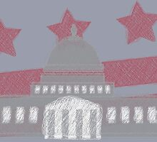 USA America Capitol Equality Scribble Drawing by CorrieJacobs