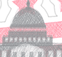USA America Capitol Equality Scribble Drawing Sticker