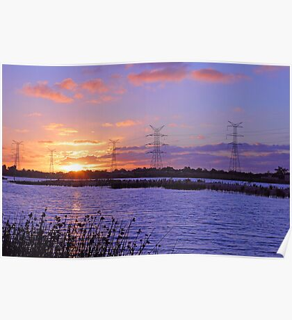 Champion Lake Sunset  Poster