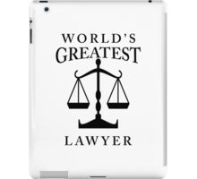World's Greatest Lawyer iPad Case/Skin