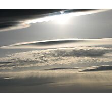 Sun toward the horizon Photographic Print