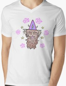 Mustachiosorcerer Mens V-Neck T-Shirt
