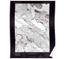 Maine USGS Historical Map Wabassus Lake NW 807262 1975 24000 Inversion Poster