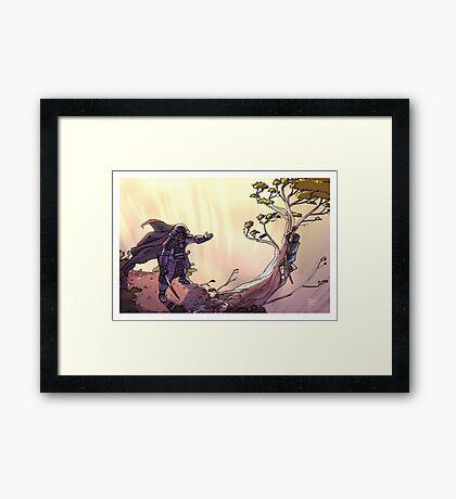 Samurai and Son Framed Print