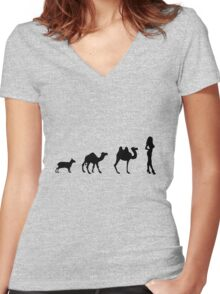 Humps Women's Fitted V-Neck T-Shirt