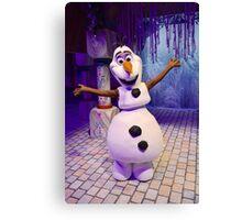 Olaf the warmest snowman Canvas Print