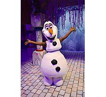 Olaf the warmest snowman Photographic Print