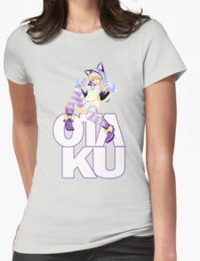 Otaku: Cheshire Neko Womens Fitted T-Shirt