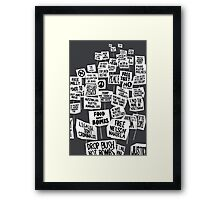Get Up Stand Up Framed Print