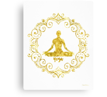 Yoga Golden Canvas Print