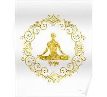 Yoga Golden Poster