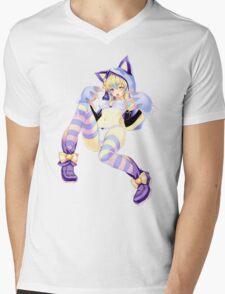 Just The Girl: Cheshire Neko Mens V-Neck T-Shirt