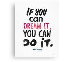 Walt Disney quote print Canvas Print