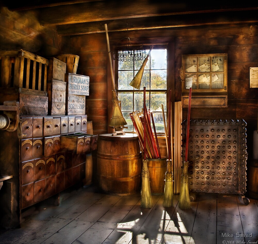 The Broom Maker by Mike  Savad